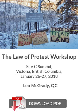 The Law of Protest Workshop - Site C Dam