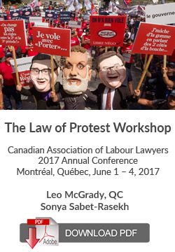 The Law of Protest Workshop